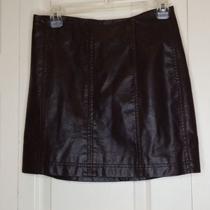 FREE PEOPLE Vegan Leather Skirt